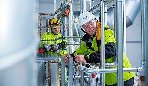 Grzegorx Rakoczy jobber i rørvirksomheten i GK og Knut-Olav Bjørgum som servicetekniker i Inneklima