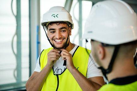 Arben Bajramaj jobber som elektriker i GK