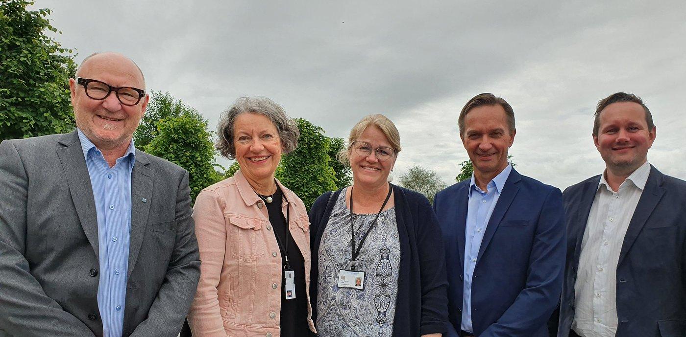 Representanter fra GK og Stavanger universitetssykehus