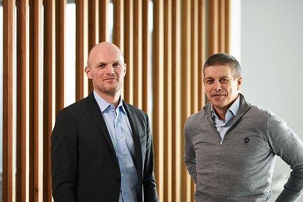Administrerende direktør i GK Norge, Rune Hardersen og leder av den nye PMO-avdelingen, Jard Bringedal.